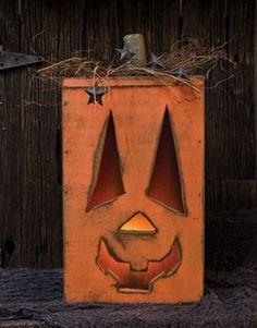 Pumpkin - Handcrafted Wood Lighted Jack O'Lantern - Primitive Country Rustic Seasonal Halloween Decor by CW, http://www.amazon.com/dp/B00EG3A782/ref=cm_sw_r_pi_dp_mV7isb1B7QSPP
