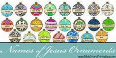 Free Names of Jesus Printable Ornament