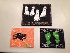 Halloween footprint craft :)