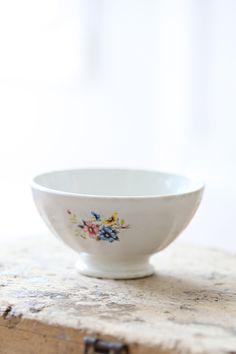 Vintage French Floral Cafe Au Lait Bowl
