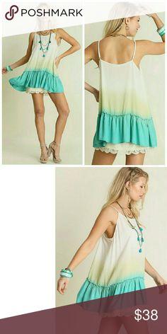 Mint Tunic Sleeveless Tie Dye Tunic Tops Tank Tops