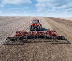 The Case IH True-Tandem 330 Turbo features next-generation vertical tillage plus soil leveling.