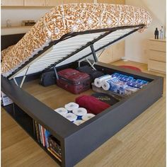 Awesome idea for storage when living in a small space