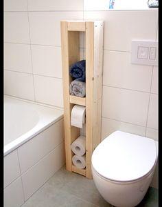 **Toilettenpapierhalter, Handtuchhalter, Mehrzweckhalter, H/B/T  125x25x14cm, Massivholz Natur, Unbehandelt. Du Kannst Das Holz Mit Einer  Lasur Noch Farblich ...