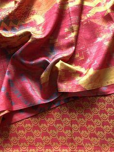 Printed soft raw silk saree Raw Silk Saree, Silk Sarees, Online Shopping Sarees, Printed, Prints