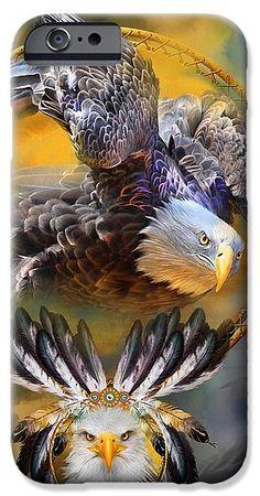 Eagle Dreams phone case featuring the art of Carol Cavalaris. Eagle Images, Eagle Pictures, Art Pictures, Native American Images, Native American Artwork, Eagle Drawing, Eagle Wallpaper, Dream Catcher Art, Eagle Art