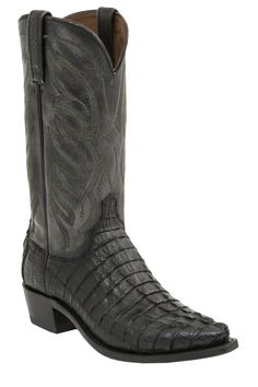 georgetowncowboyboots - Lucchese Since 1883 Mens Western Landon Black Hornback Caiman Tail M2687, $589.00 (http://www.georgetowncowboyboots.com/lucchese-since-1883-mens-western-landon-black-hornback-caiman-tail-m2687/)