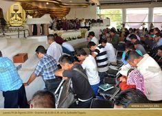 Jueves 14 de Agosto 2014 - Oración de 8:00 A.M. en la Subsede Coyula. #SantaConvocacion2014 #SantaCena2014 #lldm #ccbusa #lldmusa