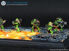 Salamander kill team Salamanders 40k, Minis, Fantasy Battle, Crusaders, Warhammer 40000, Space Marine, Phan, Nerdy, Character Design
