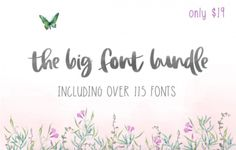 The Big Font Bundle s 99% zľavou!   https://detepe.sk/the-big-font-bundle-99-zlavou