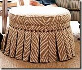 diy tutorial to make this very large stool, with creative repurposing of items....  very cool no-sew option.   But I <3 piping, so I would sew :o)