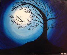 Did this one :D  | | Paint Nite | Moonlit Tree | Wed, Oct 8 at 7pm, San Jose
