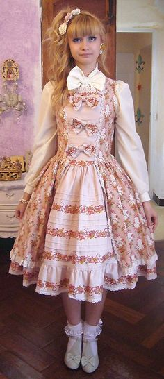 Classic Lolita. Could be nice in a floral print too?