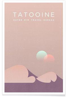 Travel Tatooine als Premium Poster von Komboh | JUNIQE