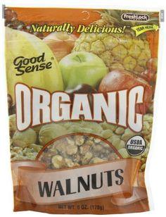 Good Sense Organic Walnuts, 6-Ounce Bags (Pack of 3) - http://goodvibeorganics.com/good-sense-organic-walnuts-6-ounce-bags-pack-of-3/