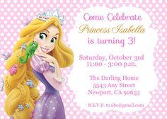 DIGITAL Rapunzel Invitation Rapunzel Birthday Invitation Rapunzel