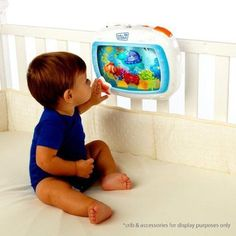 Baby-Einstein-Dreams-Sea-Soother-Crib-Music-Toy-New-Ocean-Remote-Lights-Neptune