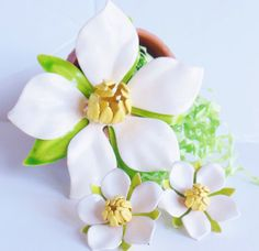 Vintage Sarah Coventry White Magnolia Brooch & by normajeanscloset, $39.99
