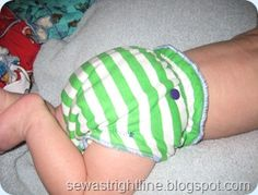 step by step (with pics) on how to make a serged fitted cloth diaper~So cute for summer with a little Tshirt!