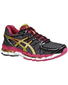 ASICS Gel Kayano 20 by Sweaty Betty. I love the look of these shoes and these refreshing colours: lime and raspberry.