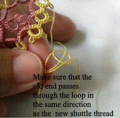 This is an explanation on how to add new thread when the thread in your shuttle (or ball) has run out.    When I need to add new thread, I u...