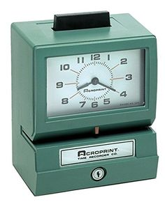 Acroprint 125NR4 Heavy Duty Manual Time Recorder for Mont…