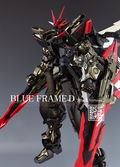 MG 1/100 Astray Blue Frame D [Black Ver.] - Customized Build Modeled by Mungge