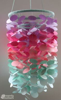 DIY Paint Chip Mobile Crafts and Projects by DIY Ready at www.diyready.com/18-amazing-diy-paint-chip-projects/