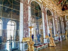 One of the most important rooms in all of Europe:  The Hall of Mirrors at Versailles.