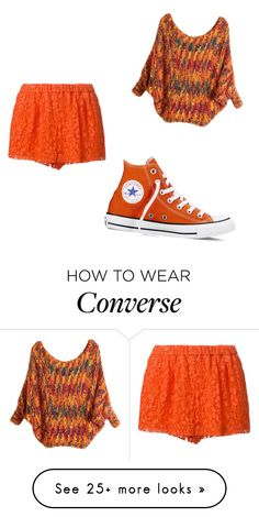 """Pumpkin Spice"" by queen-of-the-night-sky on Polyvore featuring MSGM and Converse"