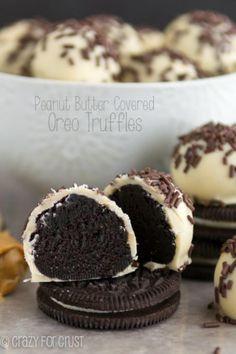 Peanut Butter Covered Oreo Truffles