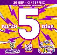 Ya sólo faltan 5 días para #Creativos y #CreativosNiños  www.creativosmonterrey.com