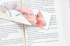 Bookmark, Fell into a Book, watercolor bookmark.