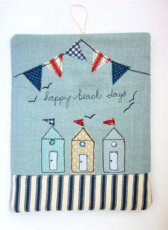 iPad Cover iPad Case Beach Huts and Bunting by modernandvintage