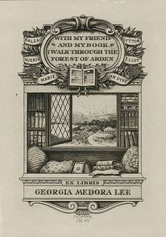 Ex libris by Joseph Winfred Spenceley (1865-1908) for Georgia Medora Lee, 1903