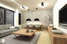 Salon styl Minimalistyczny Salon - zdjęcie od design me too Home Decor Inspiration, Decor Ideas, Portfolio Design, House Colors, Small Spaces, Sweet Home, Dining Table, House Design, Living Room