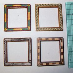 how to: easy marquetry frames