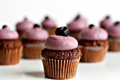Chocolate Blueberry Cupcakes
