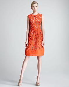 Gojee - Etched Cutout Sheath Dress by Lela Rose