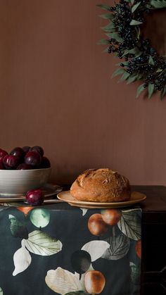 The Plum (Luumu) pattern is all about that feeling when the wind picks up, the leaves begin to change, and it's time to get cozy at home. With toffee-browns and ripe orange tones against a dark and velvety green, Plum brings the bounty of nature into your home. Use Plum to set a dramatic table, add warmth to your living room, or get cozy in the bedroom. From the calm of the countryside all the way to the urban jungle, let Pentik's designs bring beauty into your home. Table Arrangements, Getting Cozy, Tablecloths, Toffee, Countryside, Plum, Table Settings, How Are You Feeling, Leaves