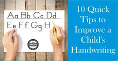 10 Quick Tips to Improve Handwriting - When the child is practicing handwriting, try these 10 quick tips to help improve a child& legibility. Alphabet Writing, Pre Writing, Kids Writing, Start Writing, Writing Activities, Improve Your Handwriting, Cursive Handwriting, Handwriting Practice, Handwriting Recognition