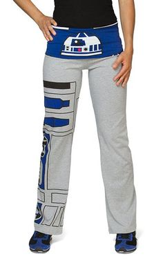 Star Wars R2-D2 Ladies' Yoga Pants--perfect for getting ready the morning of