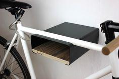 """Fahrräder - Bikeshelf """"velo-stop"""" schwarz/nussbaum - ein Designerstück von stuekwerk-moebel bei DaWanda"""