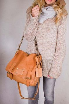 {Sleazy Jane Leather Bags} O My Bag/ This makes me long to go shopping...sweater scarf bag it even makes me want to be blonde!