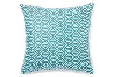 18x18 Maze Pillow, Turquoise on OneKingsLane.com