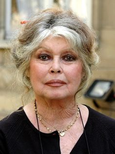 Brigitte Bardot..at eighty. Same face. Same expression. Just few more lines. Courageous woman.