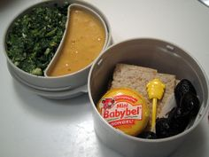 creamed spinach bean soup crackers cheese