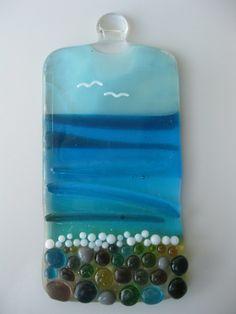 Fused Glass Pebble Beach Lightcatcher