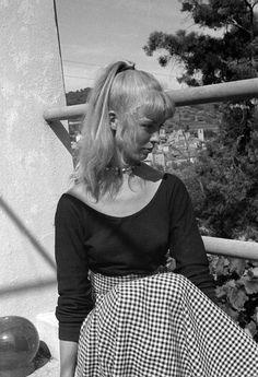 Sylvette David in Vallauris, 1954