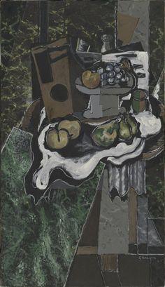 'Frutas sobre un mantel y frutero' (1925, Óleo sobre lienzo, 130,5 x 75 cm).